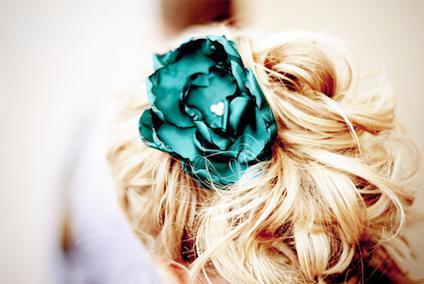 Green hair flower