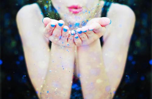 Sparkly girl.